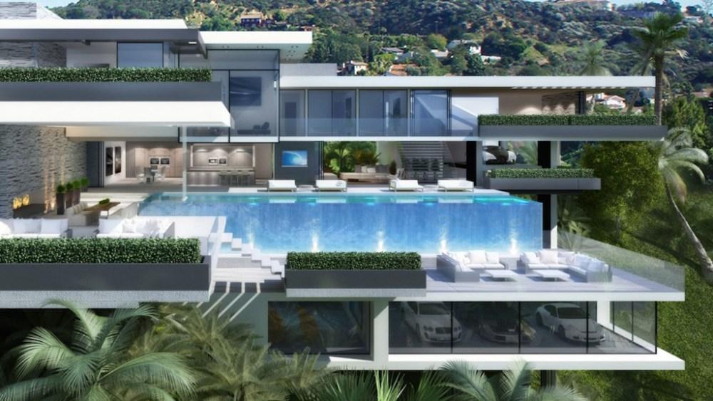 Conhe a as duas casas ultra luxuosas em sunset plaza drive for Big modern houses for sale