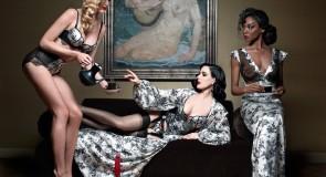 Dita Von Teese & Christian Louboutin criaram luxuosa colecção de lingerie