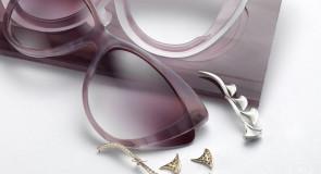 Novos óculos de sol Bvlgari com diamantes incrustados